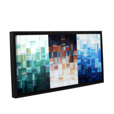 Brushstone Checkered Gallery Wrapped Floater-Framed Canvas Wall Art