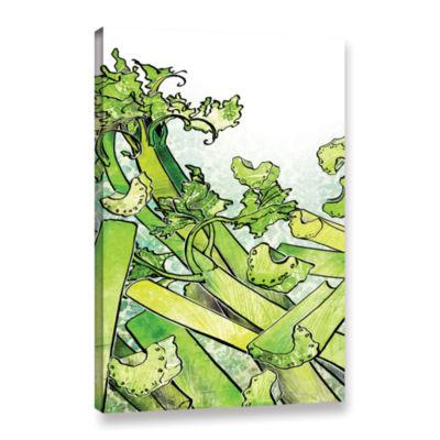 Brushstone Celery Medley Gallery Wrapped Canvas Wall Art