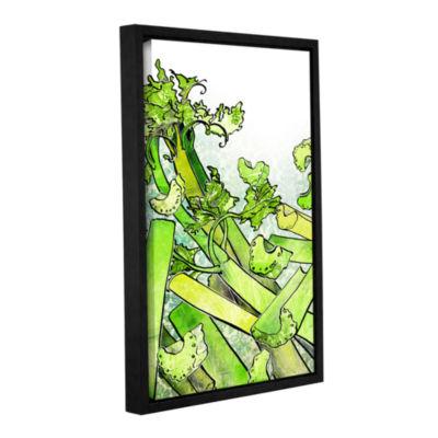 Brushstone Celery Medley Gallery Wrapped Floater-Framed Canvas Wall Art