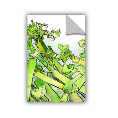 Brushstone Celery Medley Removable Wall Decal