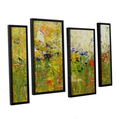 Brushstone Chester 4-pc. Floater Framed StaggeredCanvas Wall Art