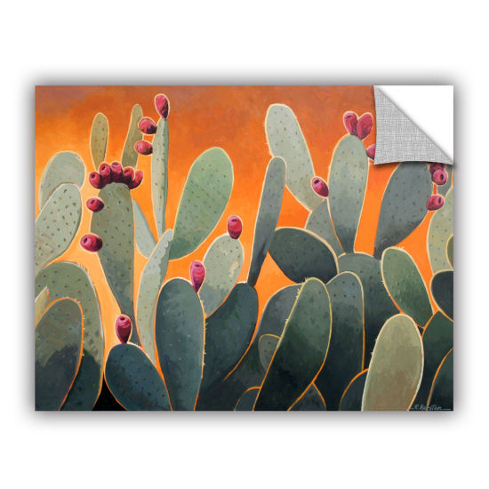 Brushstone Cactus Orange Removable Wall Decal