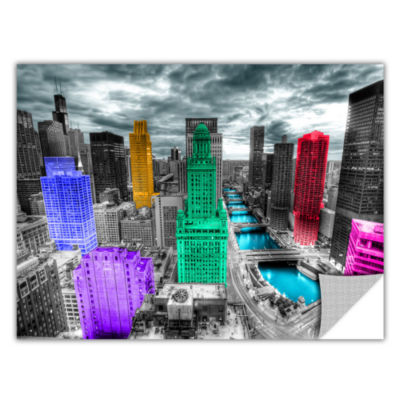 Brushstone Chicago (Color Splash) Removable Wall Decal