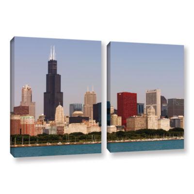 Brushstone Chicago (Skyline) 2-pc. Gallery WrappedCanvas Wall Art