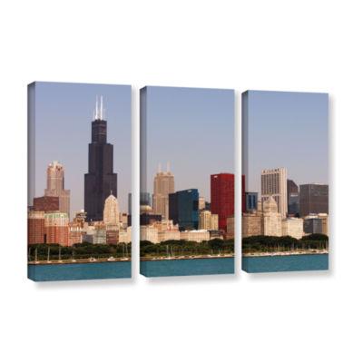 Brushstone Chicago (Skyline) 3-pc. Gallery WrappedCanvas Wall Art