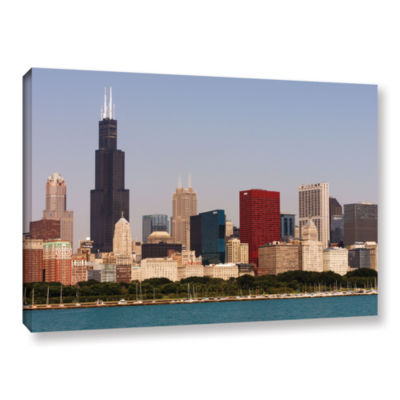 Brushstone Chicago (Skyline) Gallery Wrapped Canvas Wall Art