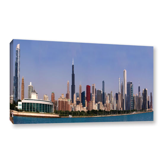 Brushstone Chicago Pano Gallery Wrapped Canvas Wall Art