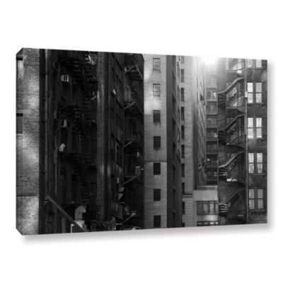 Brushstone Buildings Gallery Wrapped Canvas Wall Art