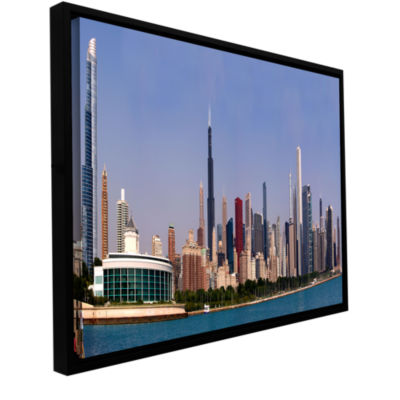 Brushstone Chicago Pano Gallery Wrapped Floater-Framed Canvas Wall Art