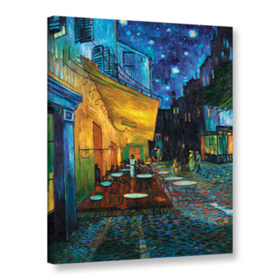 Brushstone Café Terrace Gallery Wrapped Canvas Wall Art