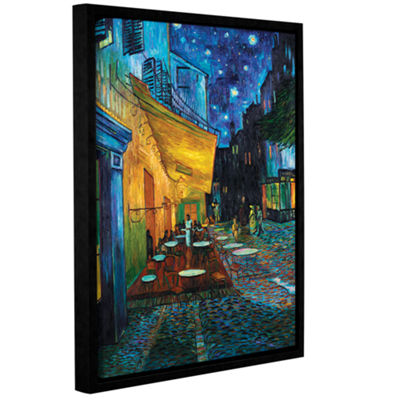 Brushstone Café Terrace Gallery Wrapped Floater-Framed Canvas Wall Art