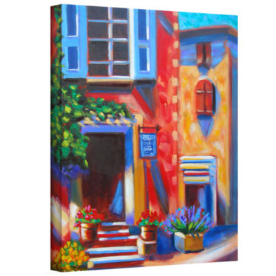 Brushstone Cafe Tino Gallery Wrapped Canvas Wall Art