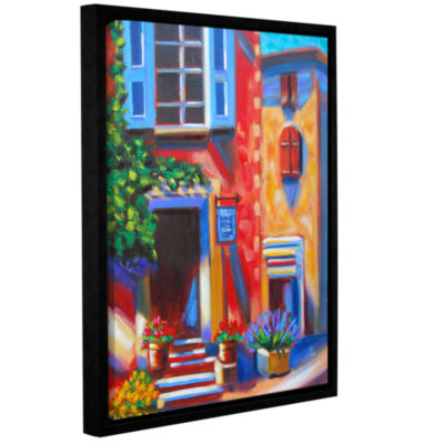 Brushstone Café Tino Gallery Wrapped Floater-Framed Canvas Wall Art