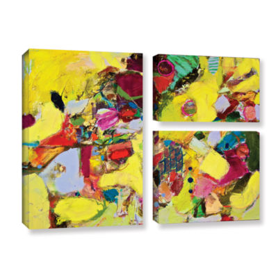 Brushstone Bumble 3-pc. Flag Gallery Wrapped Canvas Wall Art