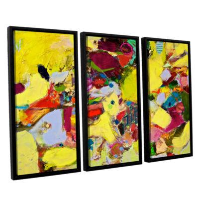 Brushstone Bumble 3-pc. Floater Framed Canvas WallArt