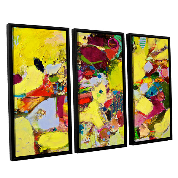 Brushstone Bumble 3-pc. Floater Framed Canvas WallArt