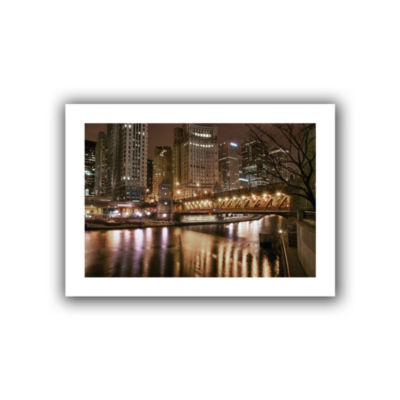 Brushstone Chicago-Michigan Avenue Bridge Canvas Wall Art