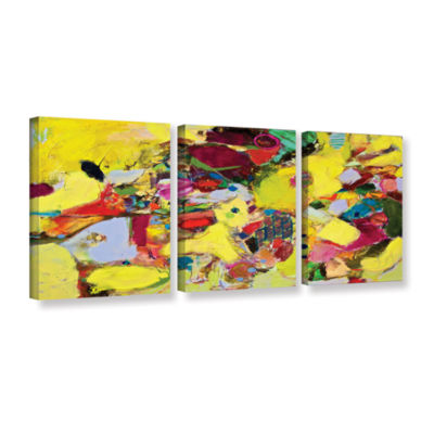 Brushstone Bumble 3-pc. Gallery Wrapped Canvas Wall Art