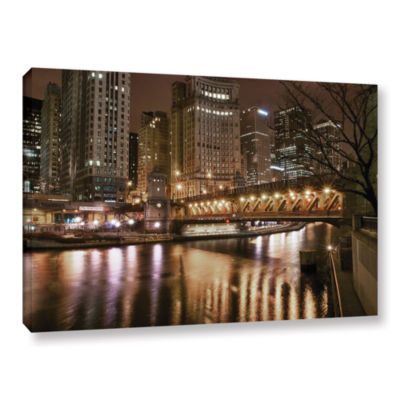 Brushstone Chicago-Michigan Avenue Bridge GalleryWrapped Canvas Wall Art