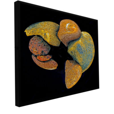 Brushstone Cairn Convergence Gallery Wrapped Floater-Framed Canvas Wall Art