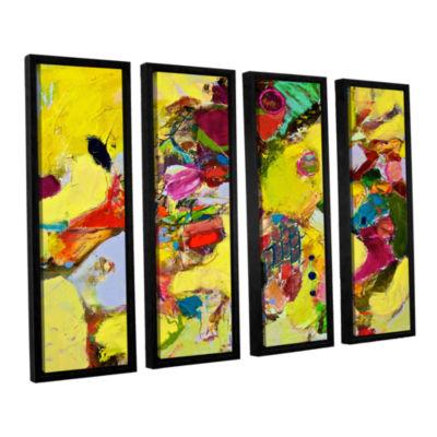 Brushstone Bumble 4-pc. Floater Framed Canvas WallArt