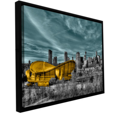 Brushstone Calgary Gallery Wrapped Floater-FramedCanvas Wall Art