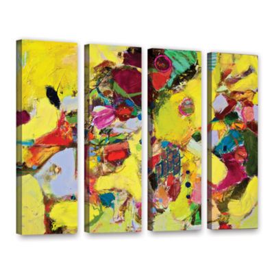 Brushstone Bumble 4-pc. Gallery Wrapped Canvas Wall Art