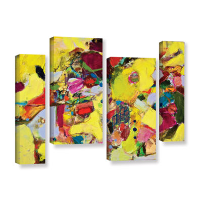 Brushstone Bumble 4-pc. Gallery Wrapped StaggeredCanvas Wall Art