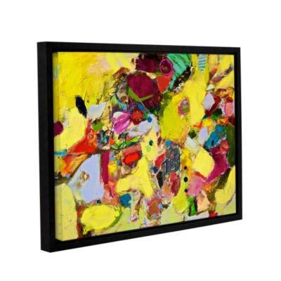 Brushstone Bumble Gallery Wrapped Floater-Framed Canvas Wall Art