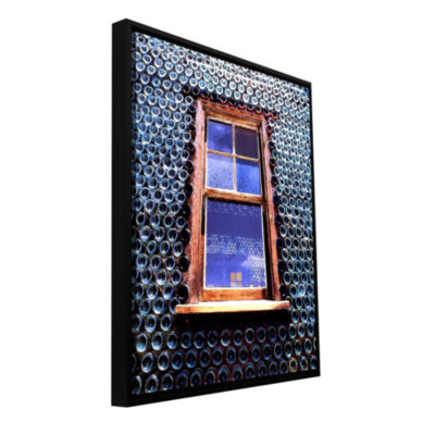 Brushstone Calico Gallery Wrapped Floater-Framed Canvas Wall Art