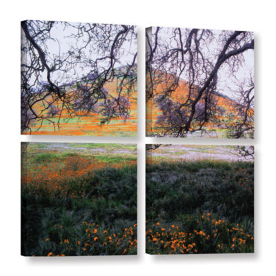 Brushstone Caliente Spring 4-pc. Square Gallery Wrapped Canvas Wall Art