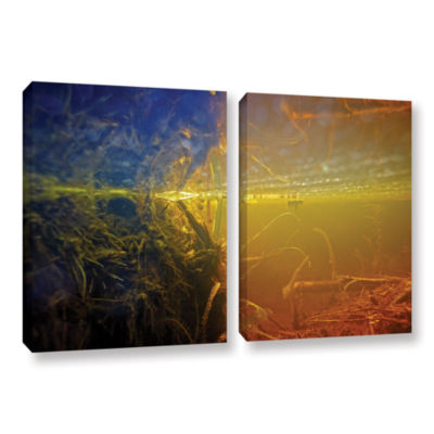 Brushstone Butler Lake #3 2-pc. Gallery Wrapped Canvas Wall Art