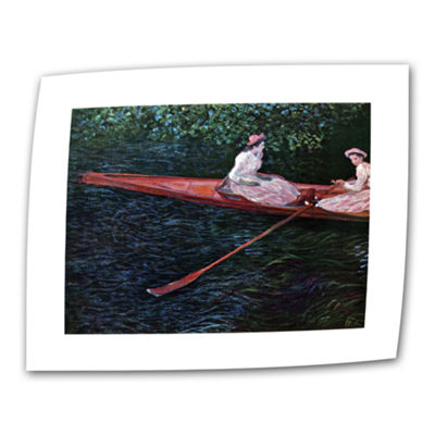 Brushstone Canoe Canvas Wall Art