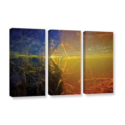 Brushstone Butler Lake #3 3-pc. Gallery Wrapped Canvas Wall Art