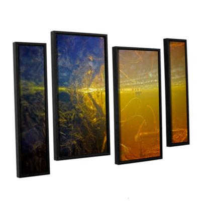 Brushstone Butler Lake #3 4-pc. Floater Framed Staggered Canvas Wall Art
