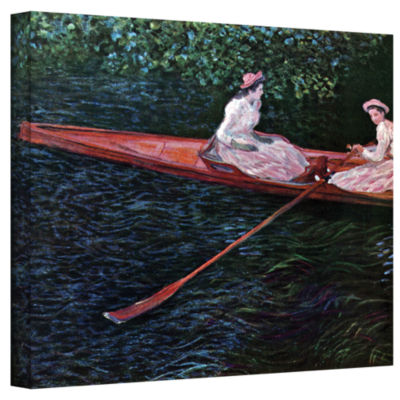 Brushstone Canoe Gallery Wrapped Canvas Wall Art