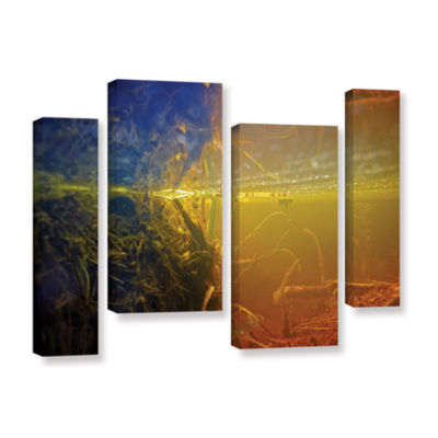 Brushstone Butler Lake #3 4-pc. Gallery Wrapped Staggered Canvas Wall Art