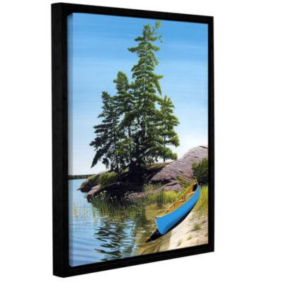 Brushstone Canoe On Georgian Bay 1 Gallery WrappedFloater-Framed Canvas Wall Art