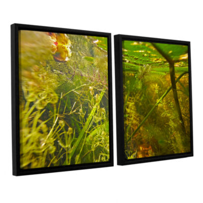 Brushstone Butler Lake #4 2-pc. Floater Framed Canvas Wall Art