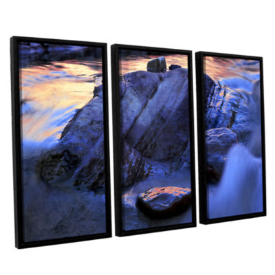 Brushstone Canyon Colours 3-pc. Floater Framed Canvas Wall Art