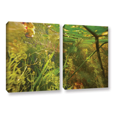 Brushstone Butler Lake #4 2-pc. Gallery Wrapped Canvas Wall Art