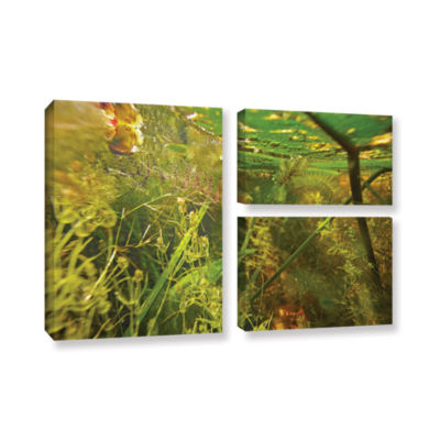 Brushstone Butler Lake #4 3-pc. Flag Gallery Wrapped Canvas Wall Art