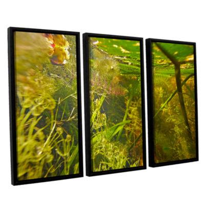 Brushstone Butler Lake #4 3-pc. Floater Framed Canvas Wall Art