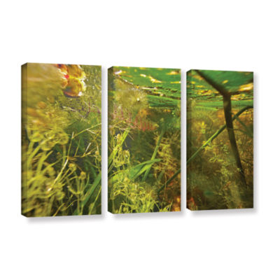 Brushstone Butler Lake #4 3-pc. Gallery Wrapped Canvas Wall Art