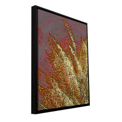 Brushstone Canyon Grass Gallery Wrapped Floater-Framed Canvas Wall Art