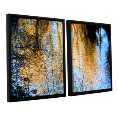 Brushstone Canyon Light (Forest) 2-pc. Floater Framed Canvas Wall Art
