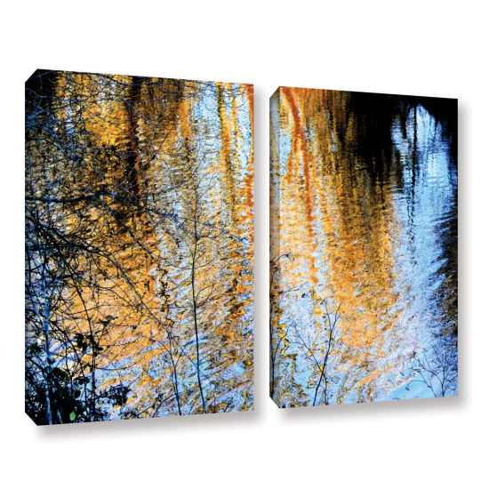Brushstone Canyon Light (Forest) 2-pc. Gallery Wrapped Canvas Wall Art
