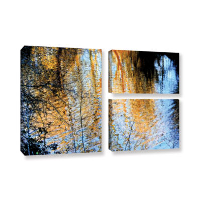 Brushstone Canyon Light (Forest) 3-pc. Flag Gallery Wrapped Canvas Wall Art