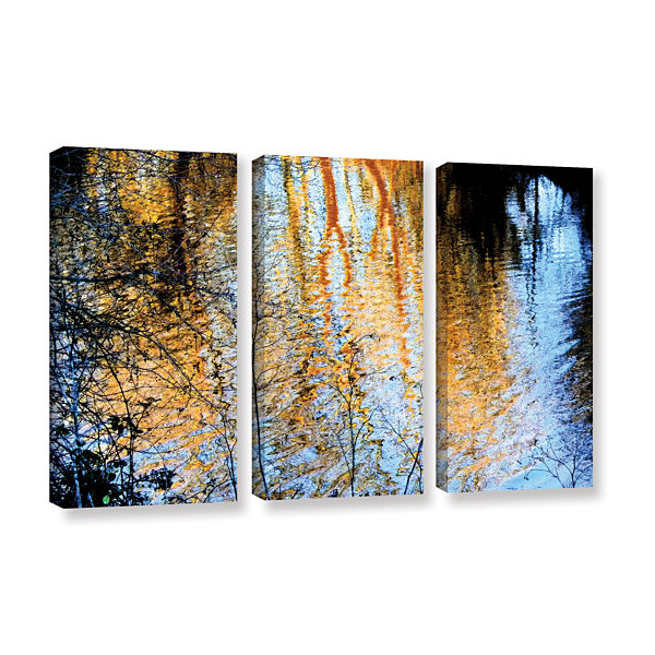 Brushstone Canyon Light (Forest) 3-pc. Gallery Wrapped Canvas Wall Art