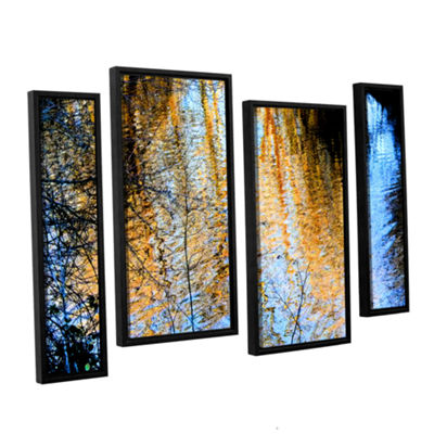Brushstone Canyon Light (Forest) 4-pc. Floater Framed Staggered Canvas Wall Art